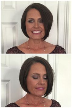Mother of the bride makeup where we used plum shadows to play up her green eyes… Makeup Inspo, Makeup Art, Makeup Ideas, Eye Makeup, Hair Makeup, Mother Of Bride Makeup, Mother Of The Bride Hair, Bridal Makeup, Wedding Makeup