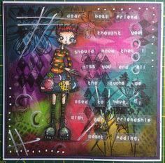 Artwork created by Nadine using rubber stamps designed by Daniel Torrente for Stampotique Originals