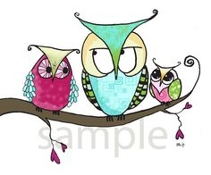 The Bazaar is a simple, but colorful inch print from the Bealoo kids wall art Owl Collection. This is a hand drawn sketch digitally coloured and Art Wall Kids, Art For Kids, Bird Template, Owl Nursery, Happy Paintings, Color Pencil Art, Owl Art, Cute Owl, Teaching Art