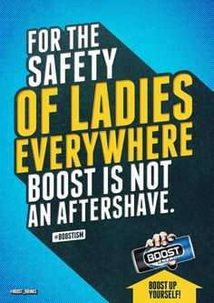 Boost Energy Drink: Aftershave