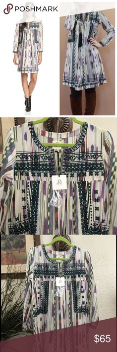 d.RA, Felix Ikat dress 🚫NO TRADES🚫 ✨PRICE IS FIRM✨  Beautiful, colorful boho tunic/dress by d.RA a brand that is carried by Anthropologie.   100% Cotton Made in India. Anthropologie Dresses Midi
