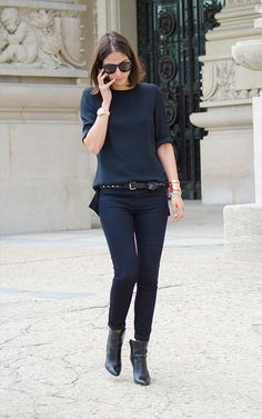 street style t-shirt black look