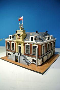 https://flic.kr/p/ndNaSM | Stadhuis Wageningen (deel 1) | Modulaire LEGO versie van het stadhuis van Wageningen. Deel 1, het oude stadhuis.