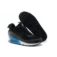 cheap for discount 8e477 53e63 Air Max 90 Noir Grise Bleu Femme