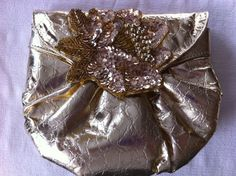 Beautiful Glitzy Gold 1970s Vintage Handbag by VintageBaublesnBits, $15.00