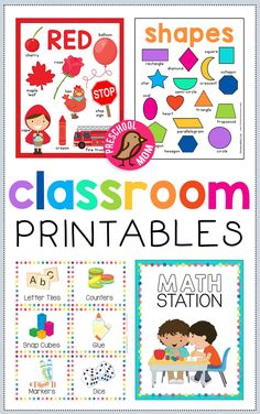 Preschool Printables, Charts, Labels, Posters and more! Free preschool classroom decor and printables you can use to bring a little fun, and engaging flair to your preschool classroom. You'll find classroom charts, color charts, shape charts, bin labels, station charts, 3dShapes, Days of the Week, Months of the Year, Weather Charts and more!