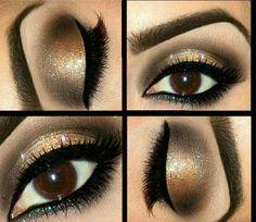 Gold & black smokey eye