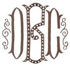 Danielle Couture Monogram.....the font on my entryway tablecloth...