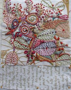Love this. Its like when you scribbled on a page, then coloured in each section but with stitch!