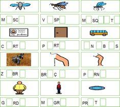coloca-a-vogal-que-falta-13 Games, Tvs, Professor, Word Formation, Worksheets, Autism, Gaming, Game, Tv
