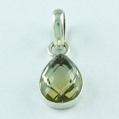 BEAUTIFUL DESIGN !! 925 STERLING SILVER 2.6 gm CITRINE STONE PENDANT SIZE 2.5 GM #SilvexImagesIndiaPvtLtd #Pendant