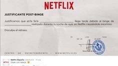 Netflix crea justificativo médico para llegar tarde al trabajo