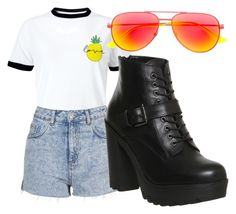 """""""Set 4 of basics"""" by fangirling ❤ liked on Polyvore featuring Miss Selfridge, Topshop, Yves Saint Laurent and Office"""