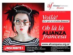 ALIANZA FRANCESA DE CAMPANA: Inscripciones 2014