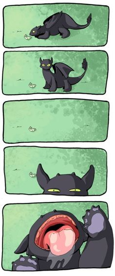 Uh oh... If I keep going at this rate, I'm going to need an entire new Pin folder devoted to Toothless. Cutest Kitty, I mean Dragon Ever!