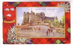 Robertson Tartan, Edinburgh Castle, Scotland, Art Colour  Item# PMK70276    Age: 1920s-1940s