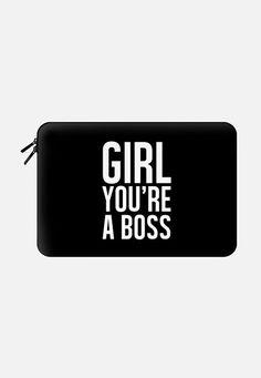 GIRL. YOU'RE A BOSS. BOLDY. Macbook Pro 15 Sleeve by Melody Joy Munn | Casetify
