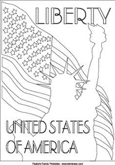 United States Symbols Coloring Pages American Eagle