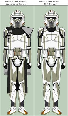 Commander Trauma and ARF Trooper from the Clone Wars TV series. Templates belong to and .