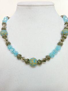 ORBIT Beaded Polymer Clay Necklace by EverydayChicJewelry on Etsy, $30.00