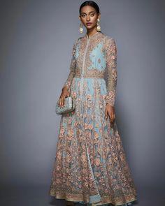 Celebrity Fashion Outfits, Celebrity Style, Celebrities Fashion, Pakistani Bridal Wear, Pakistani Dresses, Ritu Kumar Suits, Black And Gold Lehenga, Powder Blue Dress, Types Of Sleeves