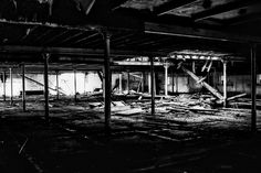 derelict maltings middle floor black & white #hdr #arthakker