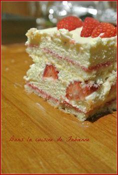 Tiramisu aux fraises façon entremet