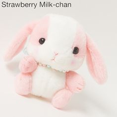 Pote Usa Loppy Pearl - Strawberry Milk-chan