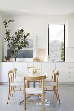 Dining area window placement