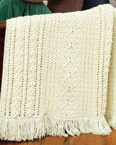Best Free Crochet » Free Crochet Pattern Heirloom Stitches Throw From RedHeart.com