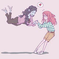 san junipero!AU bubbline ☆☆☆ Tags: Adventure Time Princess Bubblegum Bonnibel Bonnie PB Marceline Abadeer Marcy Vampire Queen Bubbline