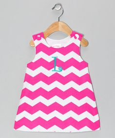 Another great find on #zulily! Pink Zigzag Initial Jumper - Infant & Toddler #zulilyfinds