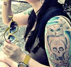 tatuagens feminina coruja