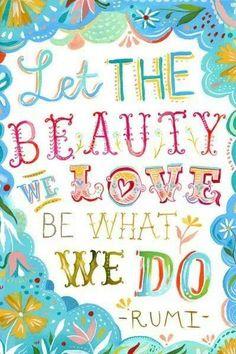 The beauty we love