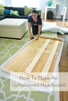 Don't buy an upholstered headboard - make one! It's quick & easy - and you can pick any fabric you'd like. headboard easy fabrics How To Make A DIY Upholstered Headboard, Part 2 Upolstered Headboard, Diy Fabric Headboard, How To Make Headboard, Headboard Designs, Headboard Ideas, Diy Upholstered Headboard, Making A Headboard, Diy Wooden Headboard, Chevron Headboard
