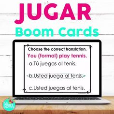 Boom Cards are one of my favorite teaching tools! I love them because they are self-checking, self-grading, provide me with data after students complete decks, and they give students a well-rounded review of the verb JUGAR and sports vocabulary in Spanish. Students love Boom Cards because they are interactive and fun! Cards be played on a computer, tablet, and phone AND can be paired easily with Google Classroom. #jugar #spanish #digital