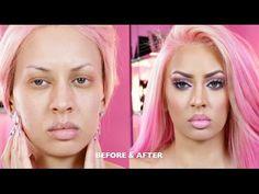 I'M BACKKKKKKKK! GET READY WITH ME! (Pink Hair & Makeup) - YouTube