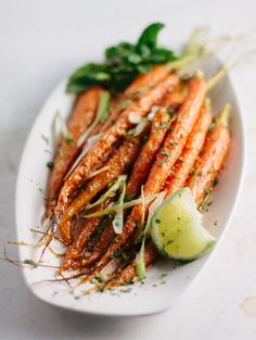 carrots roasted with cumin and lime.