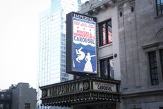 Broadway marquee Carousel revival marquee Imperial Theatre Broadway Theatre, Musical Theatre, Imperial Theatre, Carousel Musical, Jessie Mueller, Musicals, Movies, Happy, Theater