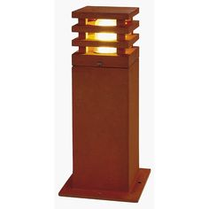 RUSTY SQUARE 40, rusted iron, E27 Energy Saver, max. 11W, IP55