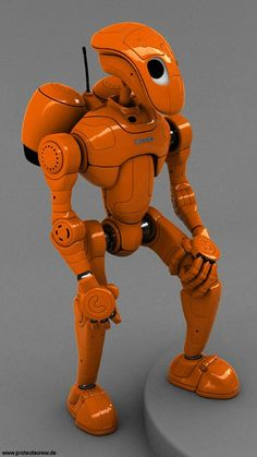 35 Realistic 3D Robots Illustrations - Rocketbot – new render by *protecta