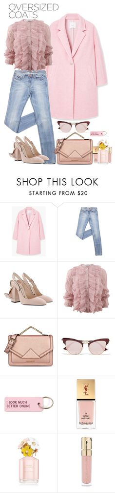 """""""Sin título #1845"""" by mussedechocolate ❤ liked on Polyvore featuring MANGO, N°21, Givenchy, Karl Lagerfeld, Le Specs, Various Projects, Yves Saint Laurent, Marc Jacobs, Smith & Cult and oversizedcoats"""