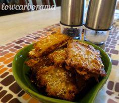 Crunchy Cheese Crackers - delicious low carb snacks - LowcarboramaLowcarborama