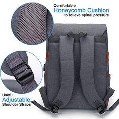 83545e9d4368 Modoker Slim Vintage Laptop Backpack