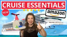 *NEW* AMAZON CRUISE ESSENTIALS: Must-Have Items You NEED for Post-Pandemic Travel - YouTube Cruise Destinations, Cruise Vacation, Amazon New, Travel Must Haves, Must Have Items, Royal Caribbean, Carnival, Essentials, Healthy