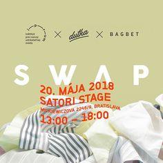 Náš ďalší SWAP sa bude konať v nedeľu 20. mája 2018 od 1300 v @satoristage v Bratislave. Link na udalosť nájdete v bio @iprum_  Príďte prineste vytriedené oblečenie do spoločného obehu a za odmenu si môžete odniesť čokoľvek čo nájdete čo potrebujete čo sa vám zapáči.  Na SWAP je možné priniesť 2 tašky oblečenia.  SWAP je zameraný na dámske a pánske oblečenie doplnky kabelky a topánky.  Aké oblečenie môžem priniesť na SWAP?  1) Oblečenie ktoré chcete swapovať musí byť v dobrom stave (voňavé…