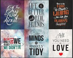 Printable Quotes Bundle 13 (set of Printable art, home decor, Digital Print, frame, Printable wall art Printable Quotes, Printable Wall Art, Digital Prints, Mindfulness, Inspirational Quotes, Printables, Frame, Life, Decor