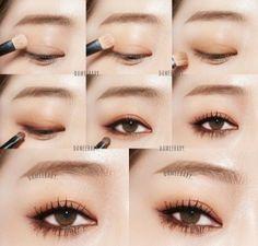 Make up Makeup 101, Makeup Goals, Makeup Inspo, Makeup Inspiration, Beauty Makeup, Korean Makeup Look, Asian Eye Makeup, Asian Makeup Tutorials, Ulzzang Makeup
