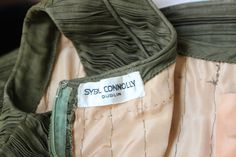 1950's SYBIL CONNOLLY haute couture hand pleated olive dress 6