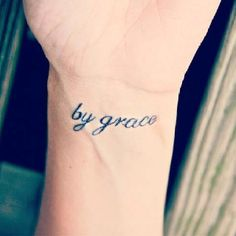 I want one kinda like this but I want it to say Saved by Grace